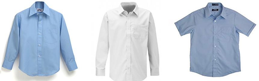 Boy Shirt - School Uniform - front garments