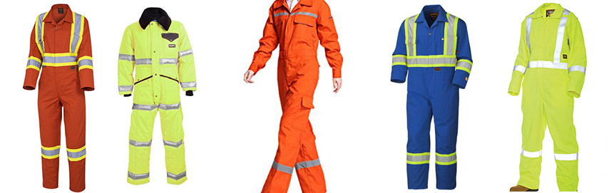 Safety Coveralls - front garments